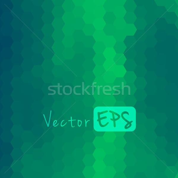 Digital hexagon pixel mosaic abstract background Stock photo © sidmay
