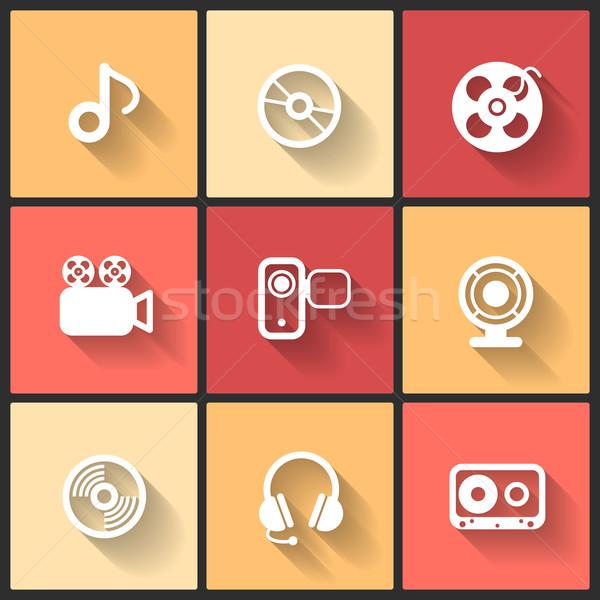 Vector ontwerp iconen web mobiele telefoon Stockfoto © sidmay