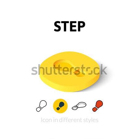 шаг икона различный стиль вектора символ Сток-фото © sidmay