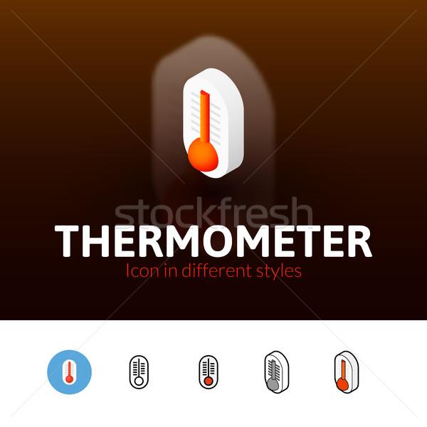 Termômetro ícone diferente estilo cor vetor Foto stock © sidmay