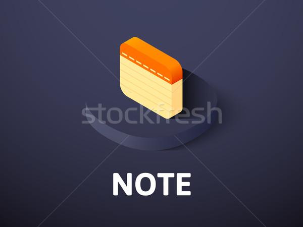 Nota isométrica ícone isolado cor vetor Foto stock © sidmay