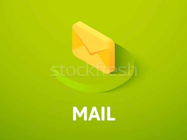 почты изометрический икона изолированный цвета вектора Сток-фото © sidmay