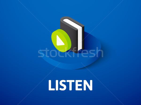 Ouvir isométrica ícone isolado cor vetor Foto stock © sidmay