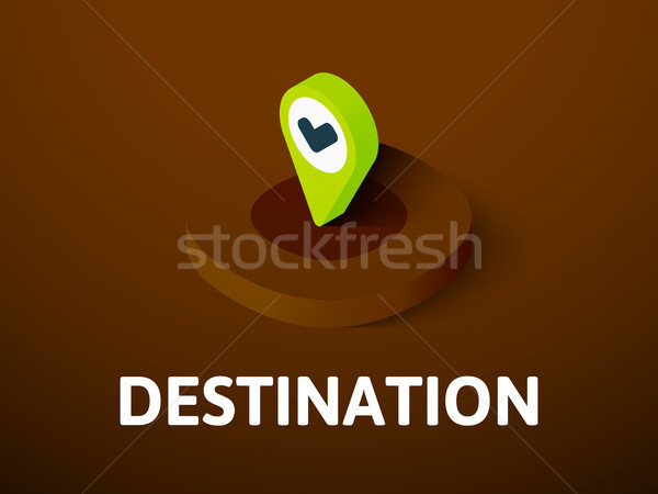 Destination isometric icon, isolated on color background Stock photo © sidmay