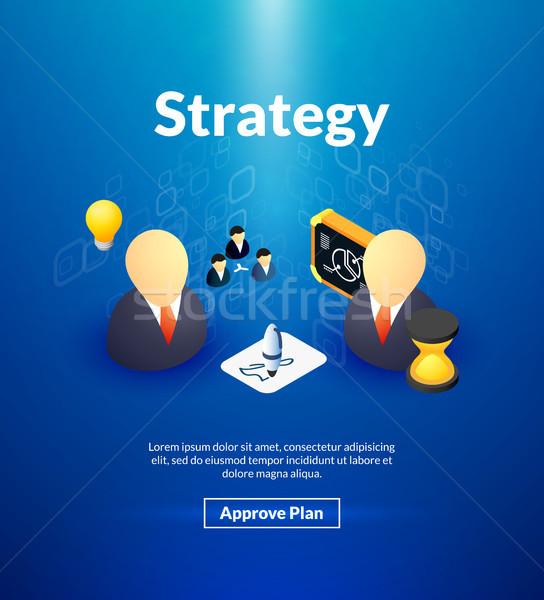 Strategy poster of isometric color design Stock photo © sidmay