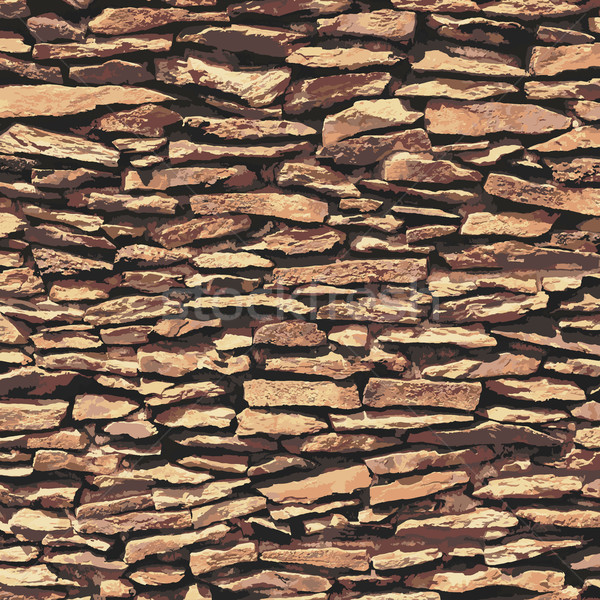 Stone wall, brown relief texture with shadow Stock photo © sidmay