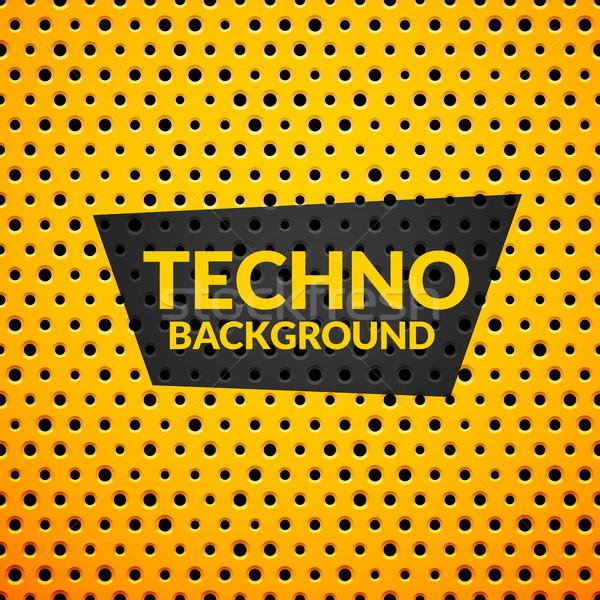 Sarı Metal plastik doku sanat endüstriyel Stok fotoğraf © sidmay