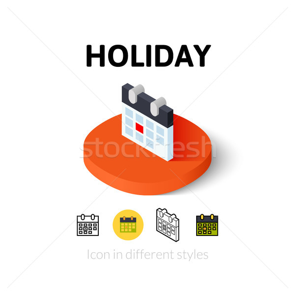 Holiday icon in different style Stock photo © sidmay