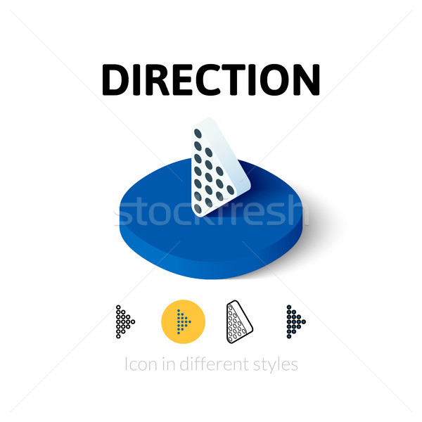 Direction icon in different style Stock photo © sidmay