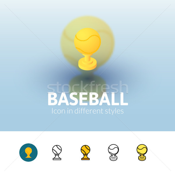 Baseball icon in different style Stock photo © sidmay