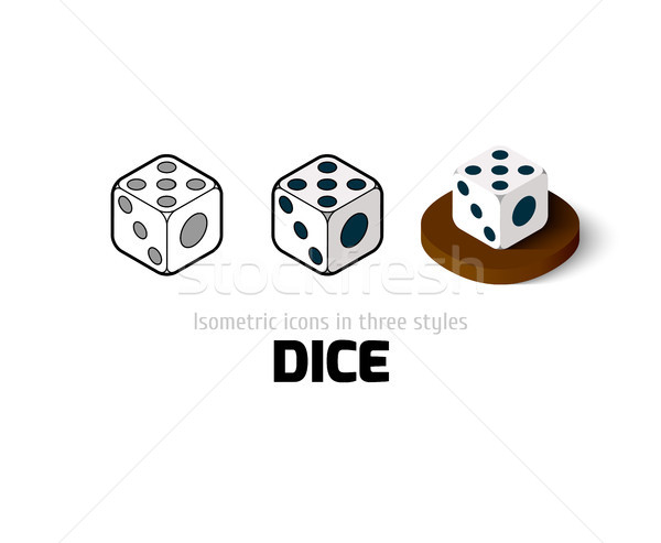 Dice icon in different style Stock photo © sidmay
