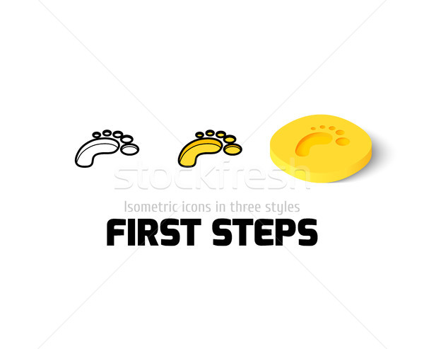 First steps icon in different style Stock photo © sidmay