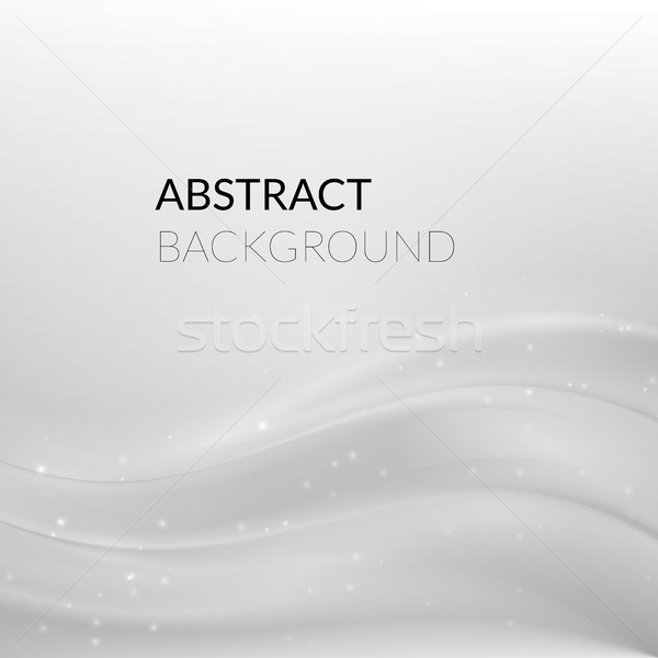 Abstract white silver background with smooth lines Stock photo © sidmay