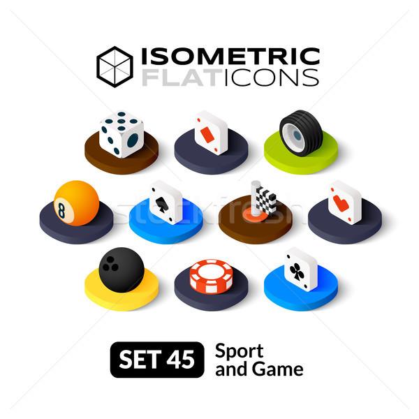 Isometric flat icons set 45 Stock photo © sidmay