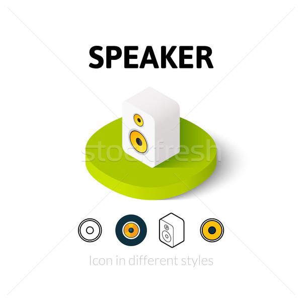 Spreker icon verschillend stijl vector symbool Stockfoto © sidmay