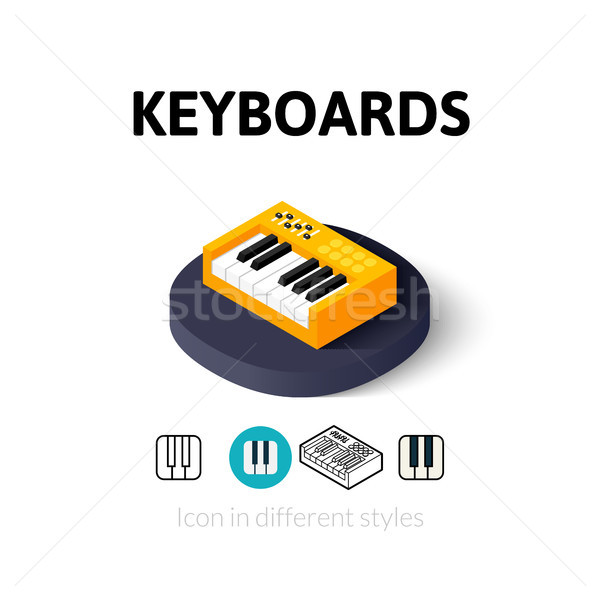 Keyboards icon in different style Stock photo © sidmay