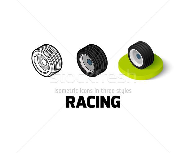 Racing icona diverso stile vettore simbolo Foto d'archivio © sidmay