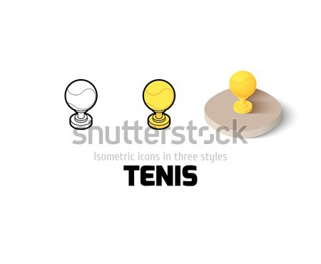 Table lamp icon in different style Stock photo © sidmay