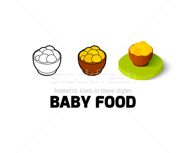 Baby food icon in different style Stock photo © sidmay