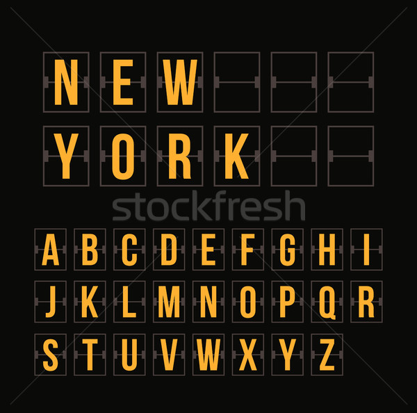 Outline scoreboard letters and symbols flat alphabet panel Stock photo © sidmay