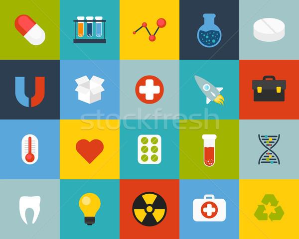 15 ciência medicina coleção telefone Foto stock © sidmay