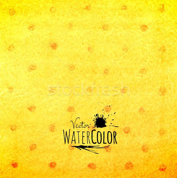 Aquarela padrão amarelo laranja vermelho Foto stock © sidmay