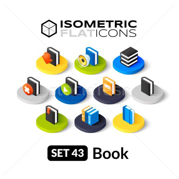 Isometrica icone 3D pittogrammi vettore Foto d'archivio © sidmay
