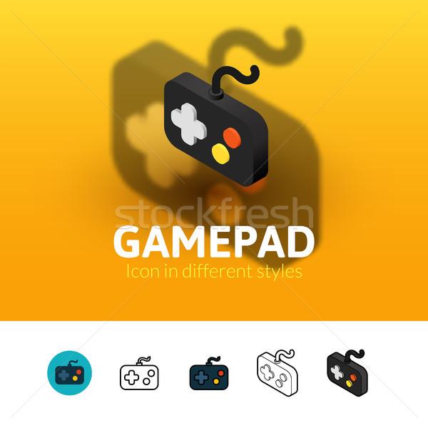 Gamepad icona diverso stile colore vettore Foto d'archivio © sidmay