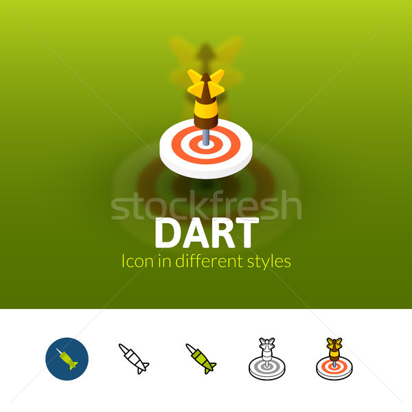 Dardo icono diferente estilo color vector Foto stock © sidmay