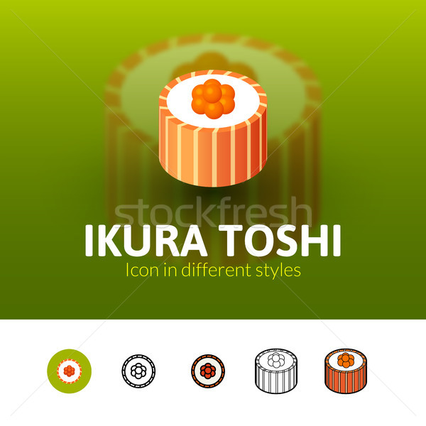 Ikura toshi icon in different style Stock photo © sidmay