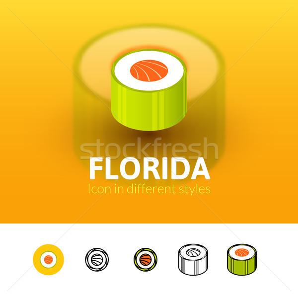 Флорида икона различный стиль цвета вектора Сток-фото © sidmay