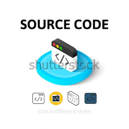 Stock photo: Fan icon in different style