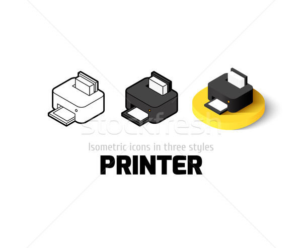 Printer icon in different style Stock photo © sidmay