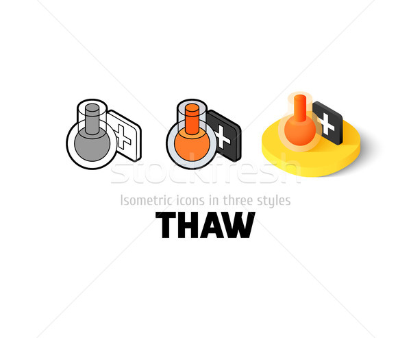 Thaw icon in different style Stock photo © sidmay