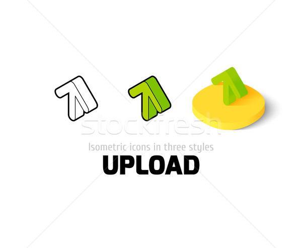 Upload icon in different style Stock photo © sidmay