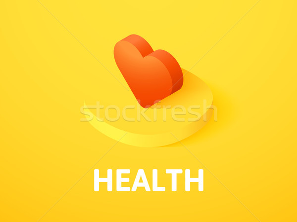 Saúde isométrica ícone isolado cor vetor Foto stock © sidmay