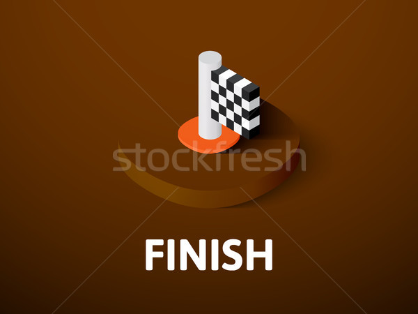 Finish isometric icon, isolated on color background Stock photo © sidmay