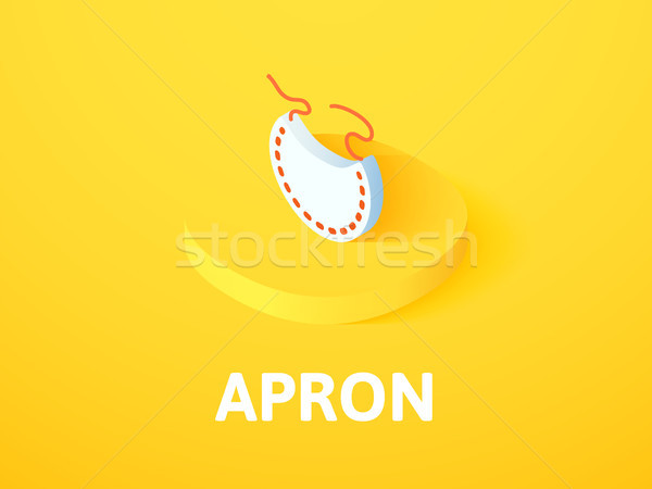 Apron isometric icon, isolated on color background Stock photo © sidmay