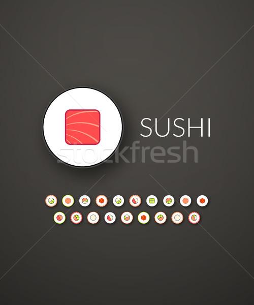 Diseno moderna marca identidad estilo web Foto stock © sidmay
