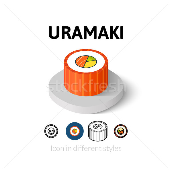 Uramaki icon in different style Stock photo © sidmay