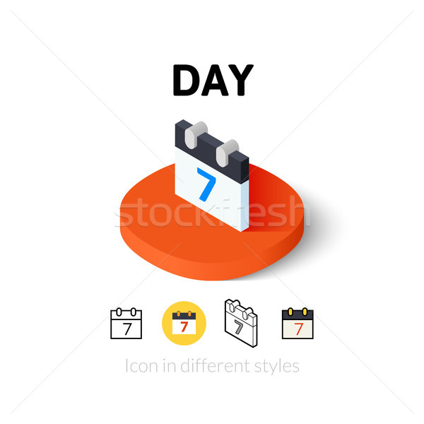 Day icon in different style Stock photo © sidmay