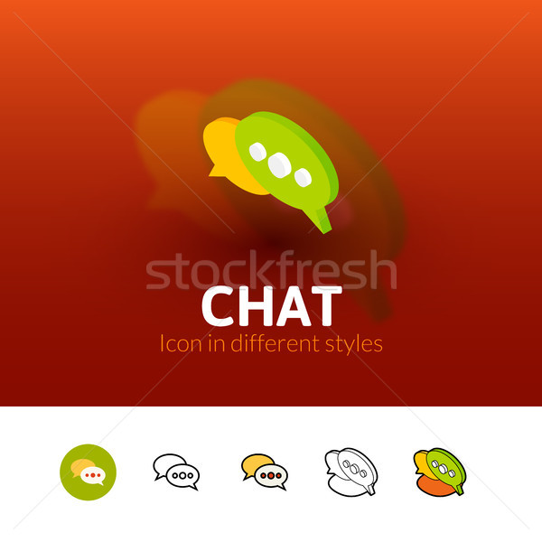 Chat icon in different style Stock photo © sidmay