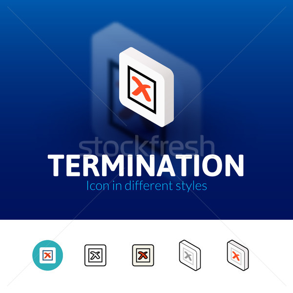Termination icon in different style Stock photo © sidmay