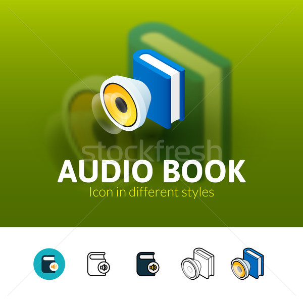 Audio Livre Icone Different Style Couleur