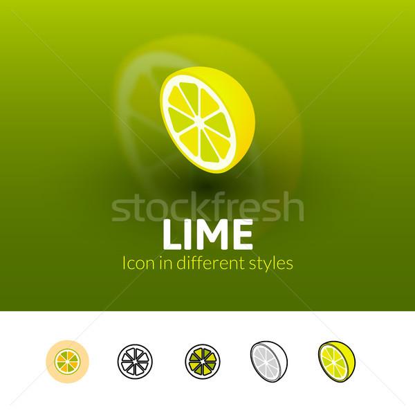 Citrus ikon különböző stílus szín vektor Stock fotó © sidmay