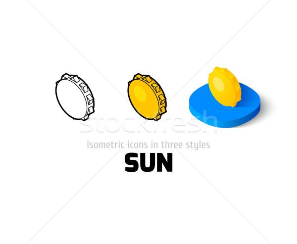 Sole icona diverso stile vettore simbolo Foto d'archivio © sidmay