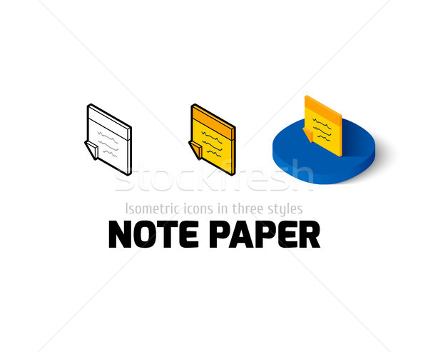 Note paper icon in different style Stock photo © sidmay