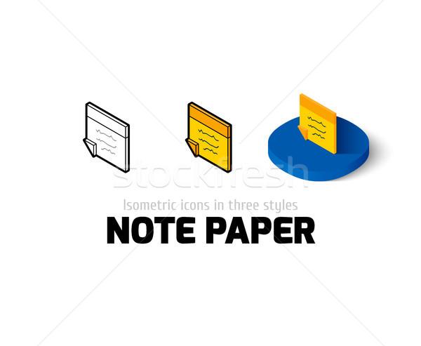 Levélpapír ikon különböző stílus vektor szimbólum Stock fotó © sidmay
