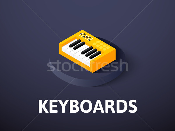 Keyboards isometric icon, isolated on color background Stock photo © sidmay