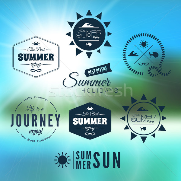 Vintage summer holidays typography design Stock photo © sidmay